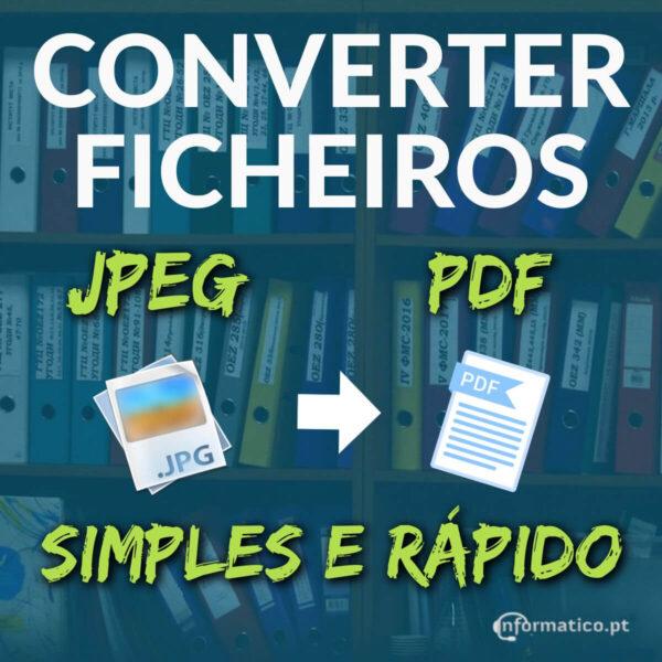 Como converter um ficheiro JPEG num PDF