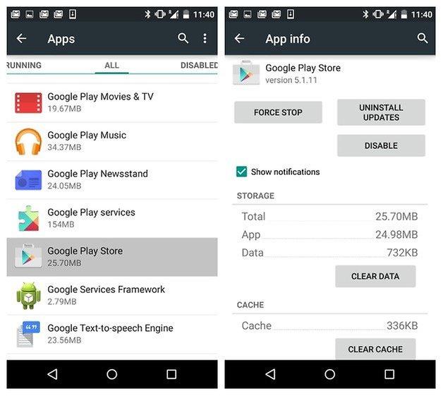 AndroidPIT Informações da aplicação Google Play Store