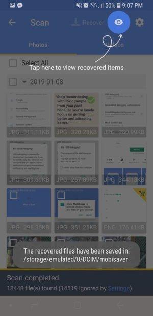 Descubra 3 formas de recuperar ficheiros perdidos do telemóvel 3