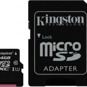 Cartão Micro SD 64GB – Kingston