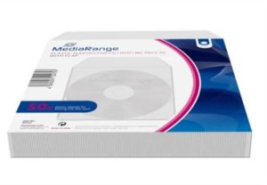 Bolsas Plástico MEDIARANGE p/ CD/DVD individuais – Pack 50 Unidades
