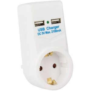 Carregador USB com Tomada