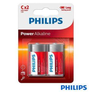 Pilha Alcalina PHILIPS LR14/C 1.5V 1