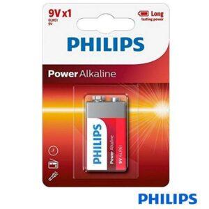 Pilha Alcalina PHILIPS 6LR61 9V 1