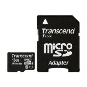Cartão Micro SD 16GB – Transcend