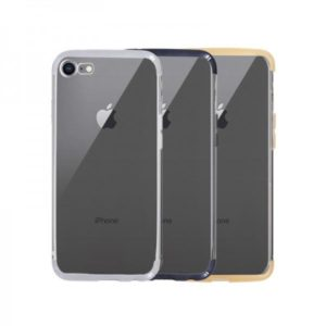 Capa Silicone IPHONE 8 com Aro Cinza 1