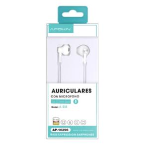 Auriculares APOKIN A-018 Branco