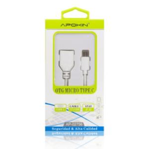Cabo adaptador USB OTG para Type-C APOKIN – WH